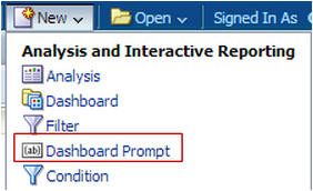 Using a Dashboard Prompt to Switch Between Analyses in OBIEE