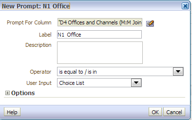 OBIEE – Column vs  Variable Prompts – M&S Consulting – AWS