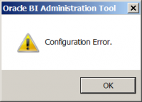 OBIEE Configuration Error