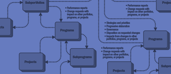 diagram illustrating relationships between Portfolios, Programs and Projects