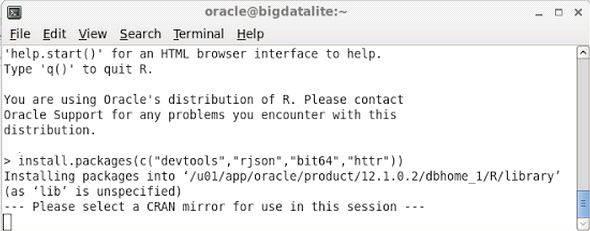 Oracle R screenshot